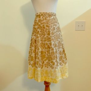 Brown and yellow floral skirt